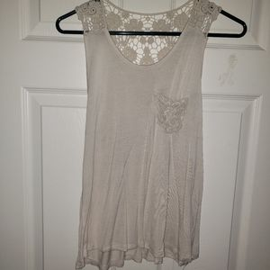 White lace tank top Rue 21